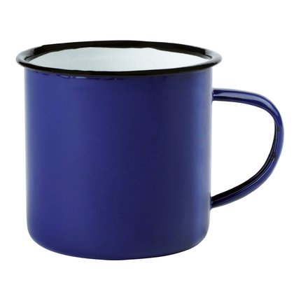 Emaille-Becher Vintage Look 350ml Kaffeetasse Becher Coffee Trinkbecher blau